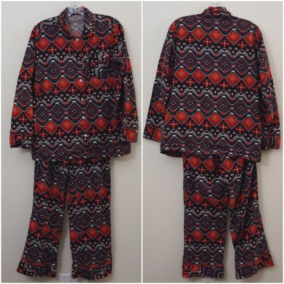 Woolrich Other - 3/$20 Woolrich Pajama Set Aztec Tribal Long Sleeve